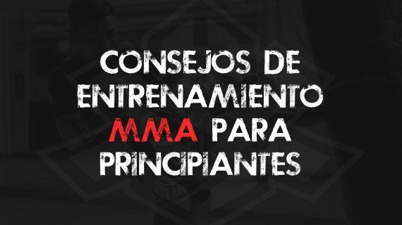 Consejos de entrenamiento MMA para principiantes.